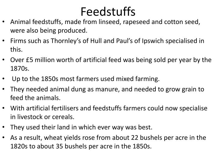 Feedstuffs