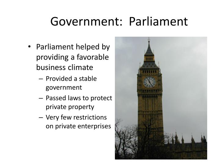 Government:  Parliament
