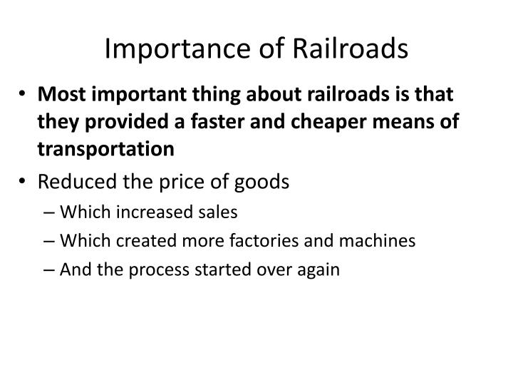 Importance of Railroads