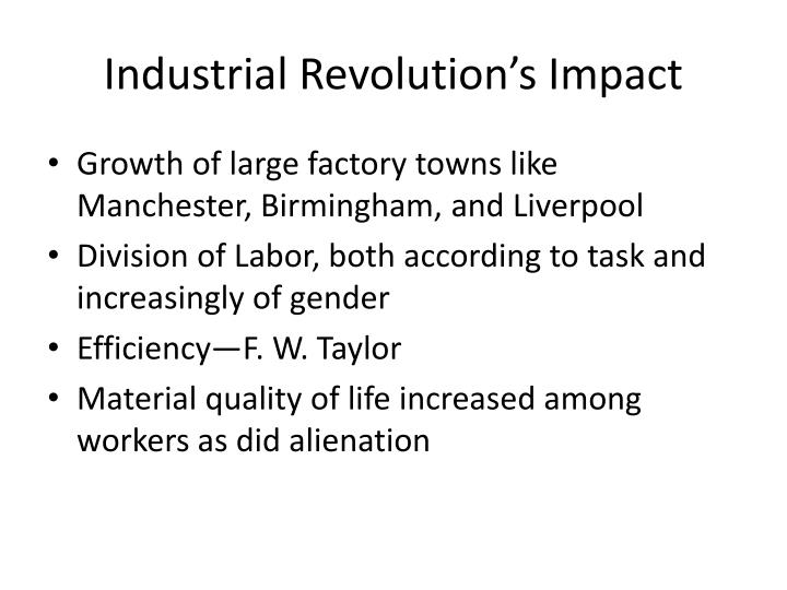 Industrial Revolution's Impact
