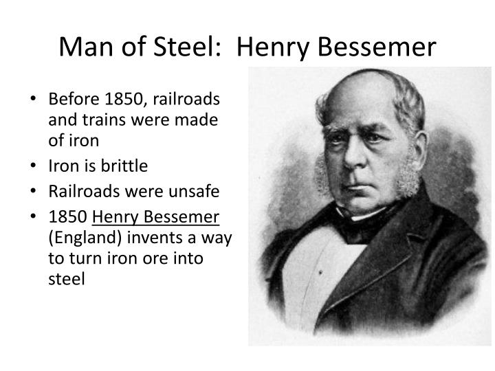Before 1850, railroads and trains were made of iron