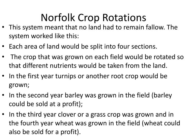 Norfolk Crop Rotations