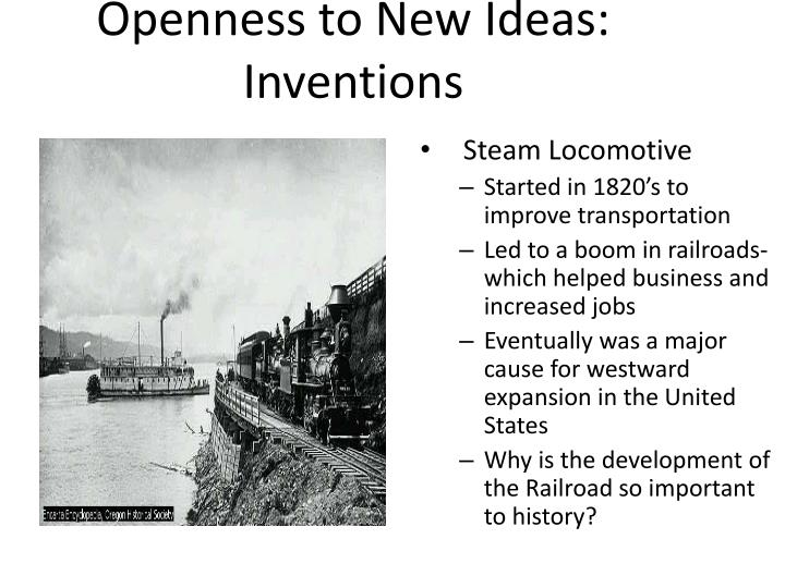 Openness to New Ideas:  Inventions