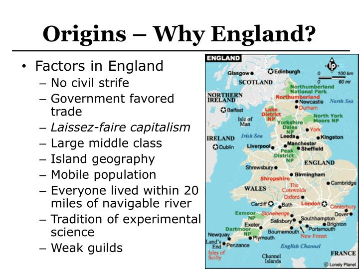 Origins – Why England?