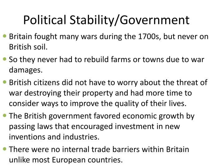 Political Stability/Government