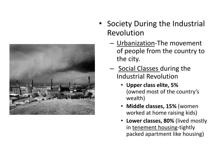 Society During the Industrial Revolution