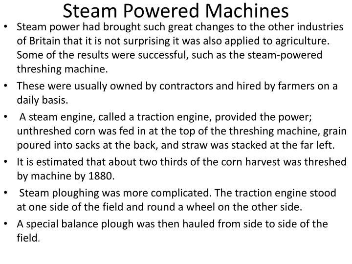 Steam Powered Machines