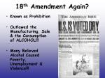 18 th amendment again