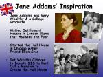 jane addams inspiration