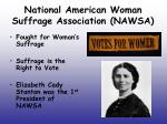 national american woman suffrage association nawsa