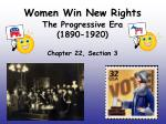 women win new rights