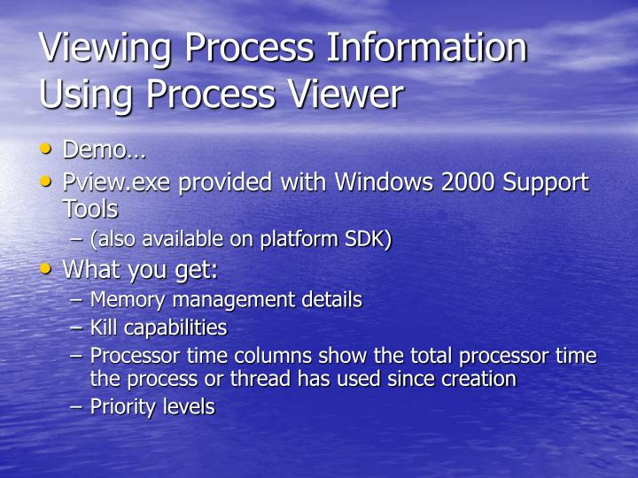 Viewing Process Information