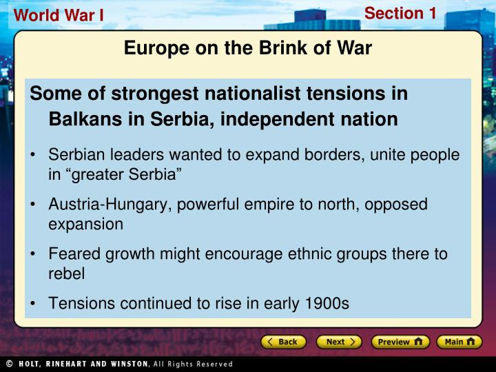 Some of strongest nationalist tensions in Balkans in Serbia, independent nation