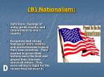 b nationalism