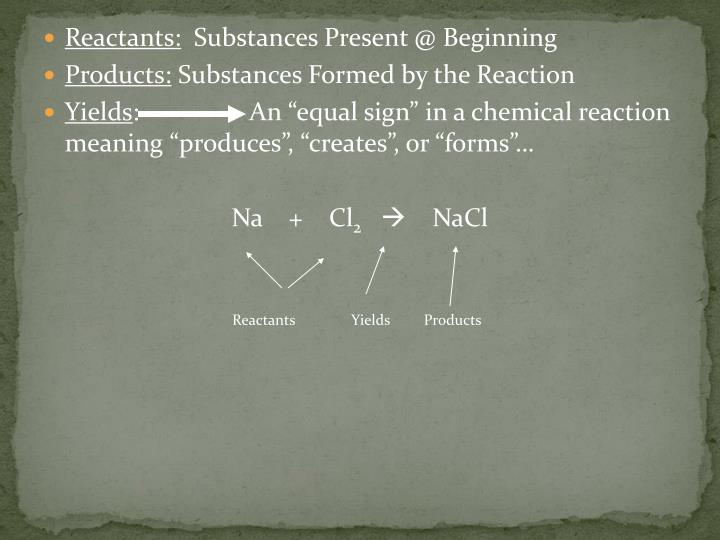 Reactants: