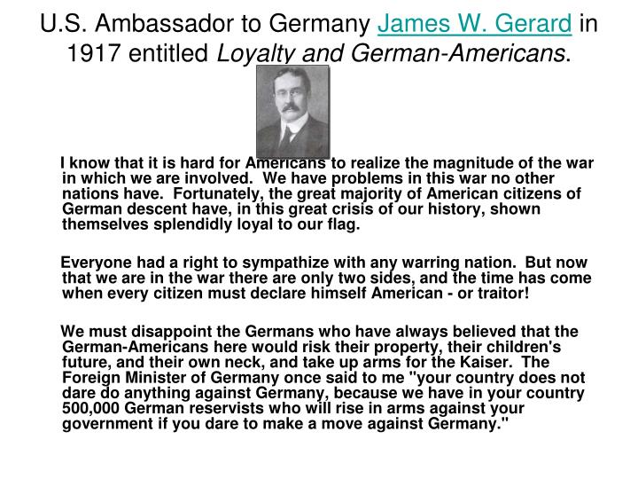 U.S. Ambassador to Germany