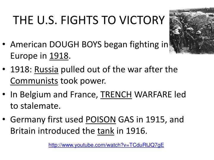 THE U.S. FIGHTS TO VICTORY