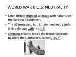 world war i u s neutrality