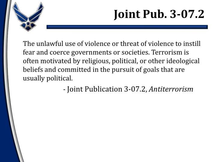 Joint Pub. 3-07.2