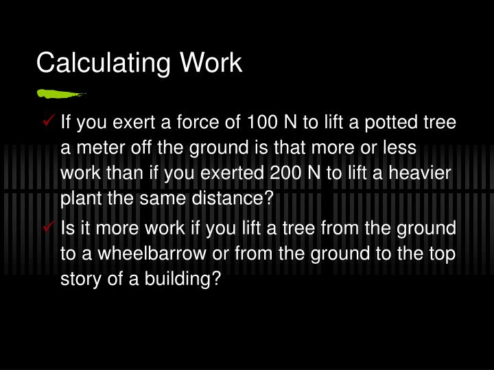 Calculating Work
