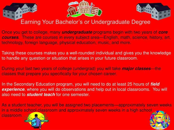 Earning Your Bachelor's or Undergraduate Degree