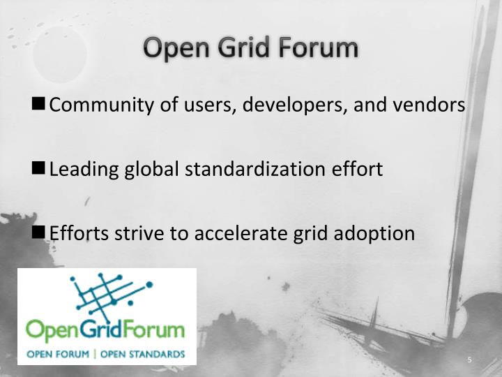 Open Grid Forum
