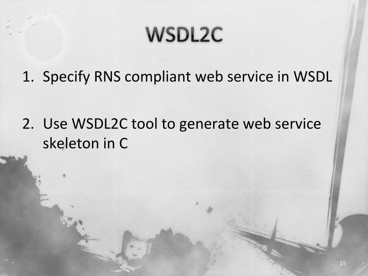 WSDL2C