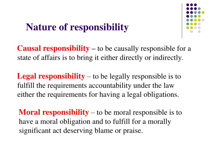 Nature of responsibility