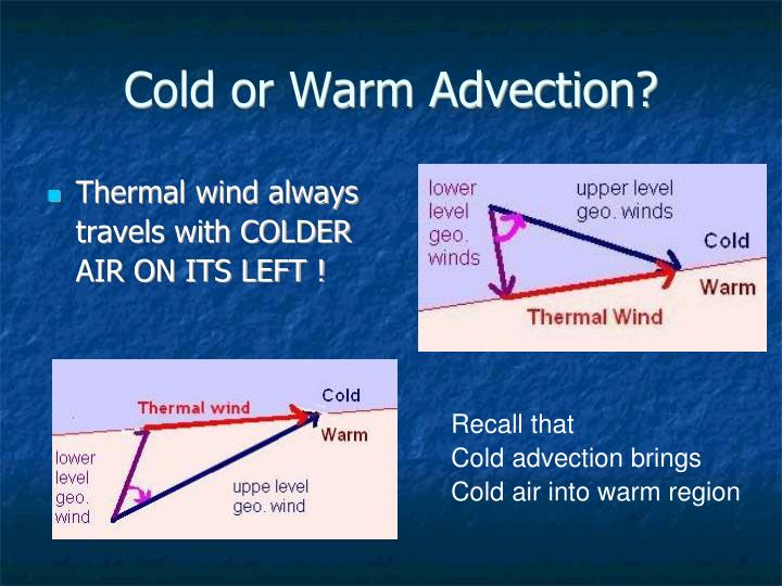 Cold or Warm Advection?