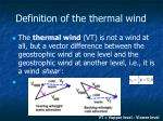 definition of the thermal wind