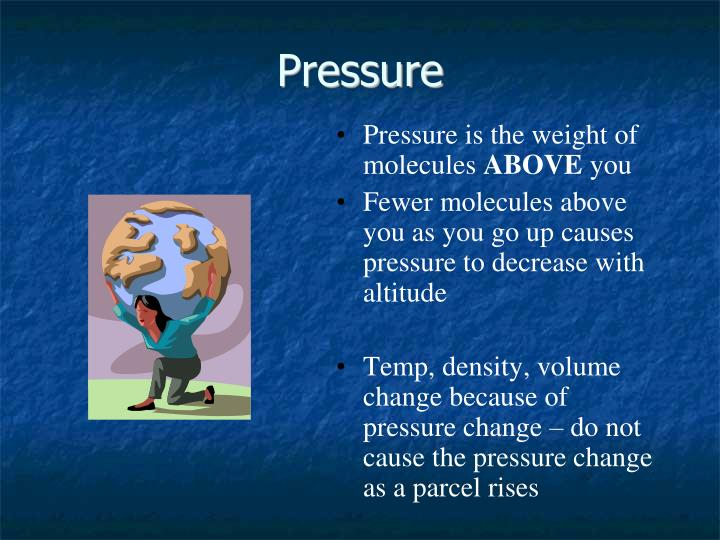Pressure is the weight of molecules