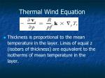 thermal wind equation
