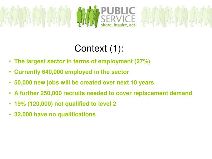 The largest sector in terms of employment (27%)