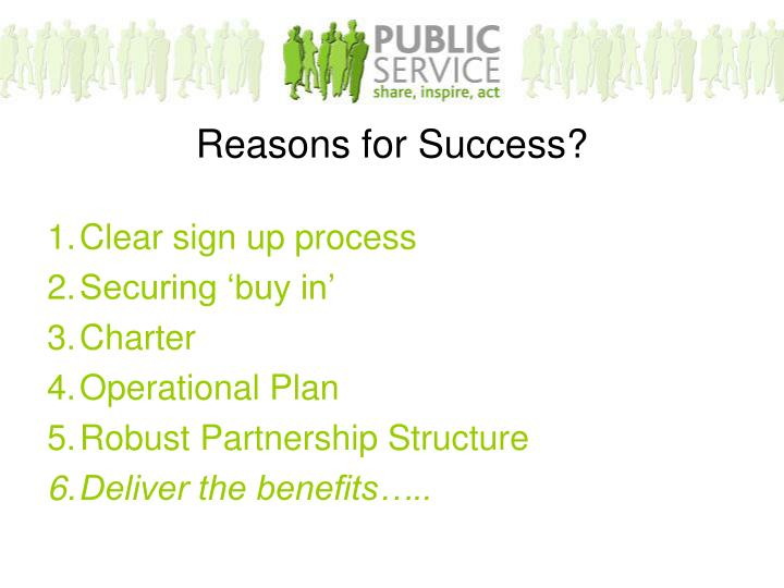 Reasons for Success?
