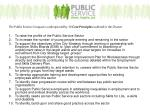 the public service compact is underpinned by 10 core principles outlined in the charter