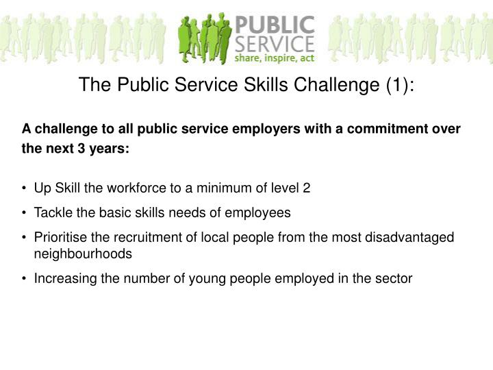 A challenge to all public service employers with a commitment over