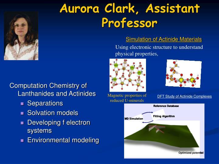 Aurora Clark, Assistant Professor