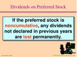 dividends on preferred stock1
