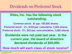 dividends on preferred stock2