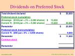 dividends on preferred stock4