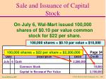 sale and issuance of capital stock2