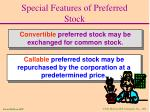 special features of preferred stock