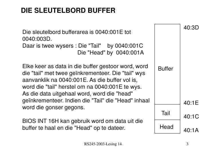 DIE SLEUTELBORD BUFFER