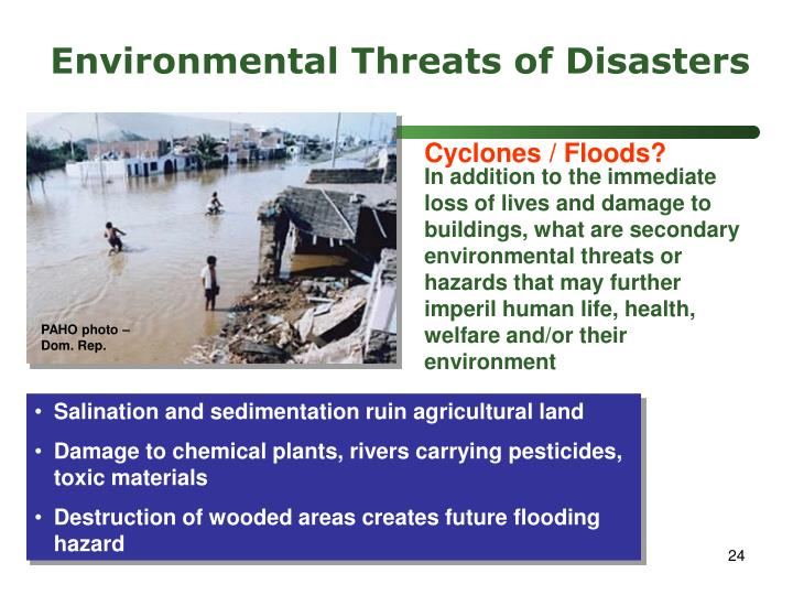 Environmental Threats of Disasters