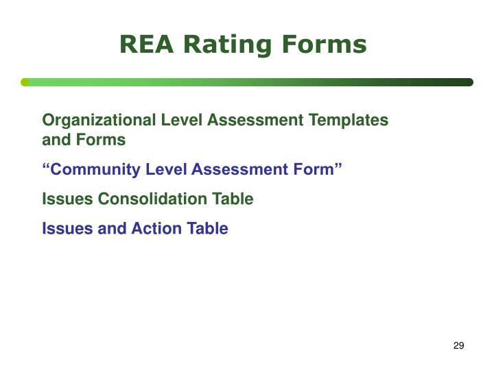 REA Rating Forms