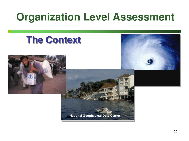 Organization Level Assessment
