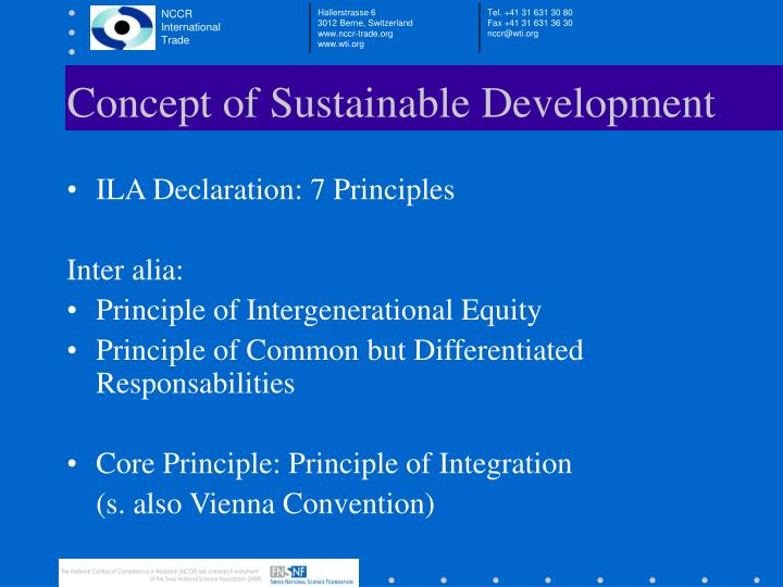 Concept of Sustainable Development