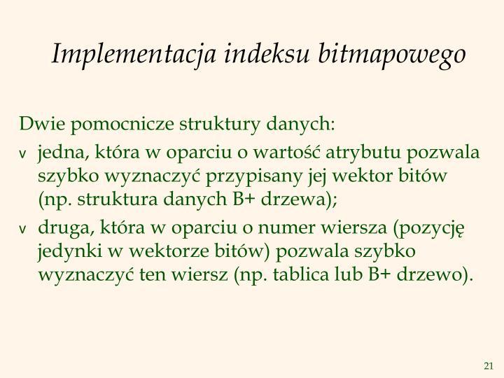 Implementacja indeksu bitmapowego