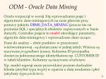 odm oracle data mining