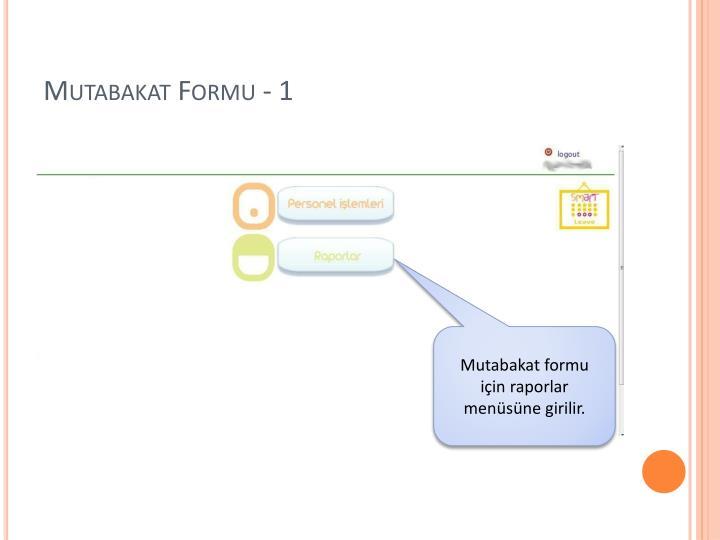 Mutabakat Formu - 1